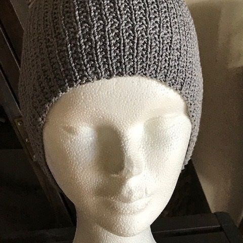 Bonnet coton/soie gris