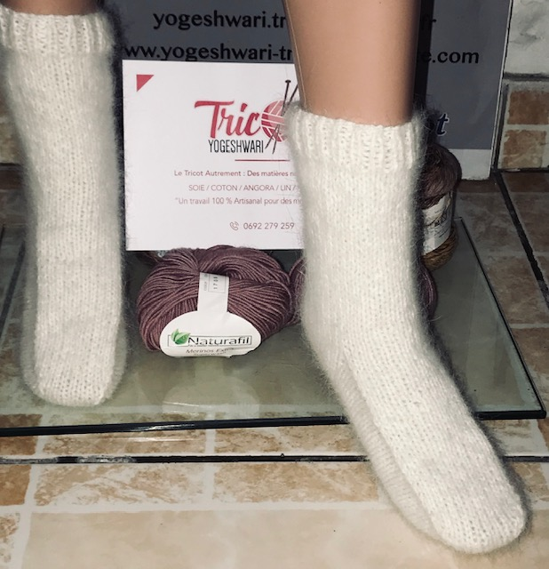 Chaussettes Angora blanches